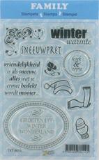 Clear stamps Family 6010 Winter Tekst & afbeeldingen