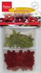 MD DIY Poinsettias RB2221 Dark red christmas roses
