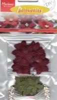 MD DIY Poinsettias RB2221 Dark red christmas roses