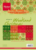 MD Pretty Paper Bloc PB7044 Eline's Woodland Christmas