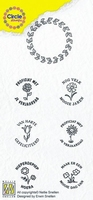 Nellie's Circle clear stamps CCSC001 Congratulation Ned teks