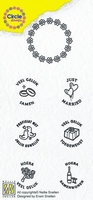 Nellie's Circle clear stamps CCSM001 Marriage Ned tekst