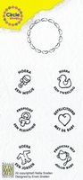 Nellie's Circle clear stamps CCSB001 Baby Ned tekst