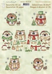 LeCreaDesign A4 Knipvel 509135 Owlie's Christmas