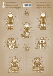 LeCreaDesign A4 Knipvel 509159 Vintage decoratie Christmas