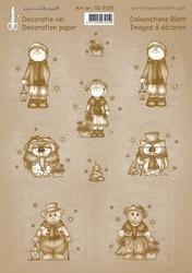 LeCreaDesign A4 Knipvel 509159 Vintage decoratie Christmas