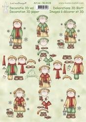 LeCreaDesign A4 Knipvel 509128 Bambinie's Christmas