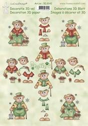 LeCreaDesign A4 Knipvel 509142 Bearie's Christmas