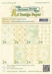 LeCreaDesign papier 519241 assorti Christmas gold tones