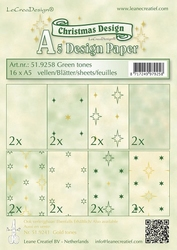 LeCreaDesign papier 519258 assorti Christmas green tones