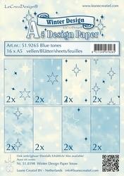 LeCreaDesign papier 519265 assorti Winter blue tones