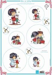 MD A4 Knipvel Don & Daisy DDK3212 Christmas 2-card topper