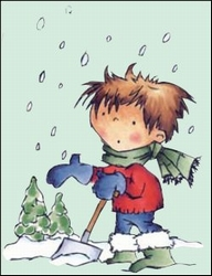 MD clear stamps Don & Daisy DDS3337 Don too much snow