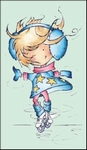 MD clear stamps Don & Daisy DDS3336 Daisy's pirouette