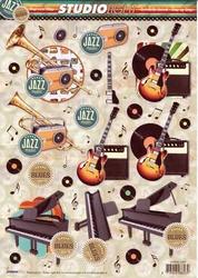 A4 Knipvel Studio Light SL1231 Muziek