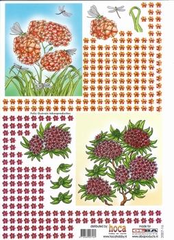 Olba 3D knipvel nr 16 bloemen/libelle