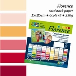 Florence cardstock paper linnenstructuur 105 multipack rood
