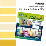 Florence cardstock paper linnenstructuur 106 multipack geel