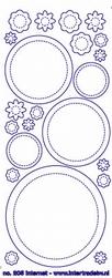 Stickervel Voorbeeldkaarten Transparant 205 Cirkels