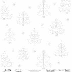 12x12 Glitter Vellum 162903 Trees