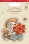Country Compagnons Mini Clear stamp Winter Wishes Poinsettia
