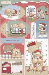 Forever Friends A4 Die-cut  X-mas Kraft Notes Wrapped Up