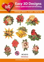 Hearty Crafts Easy 3D Toppers  HC6212 Kerstdecoratie