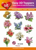 Hearty Crafts Easy 3D Toppers  HC6508 Bloemen