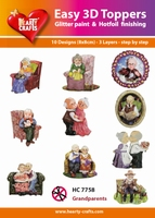 Hearty Crafts Easy 3D Toppers  HC7758 Grootouders