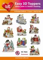 Hearty Crafts Easy 3D Toppers HC7825 Snowmen/Sneeuwpop
