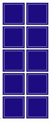 Stickervel Voorbeeldkaarten Transparant 211 Vierkantjes