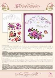 3D Borduur/knipvel Ann Paper Art 3009 Rose Romantica