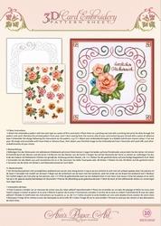 Ann's Paper Art 3D Borduurknipvel 3DCE2010 Camellia