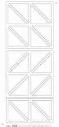 Stickervel Voorbeeldkaarten Transparant 239 Driehoekjes