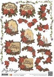 3D Knipvel Amy Design CD10306 Kerst bloemen