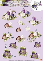 3D Knipvel Precious Marieke CD10309 Bloemen