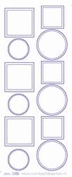 Stickervel Voorbeeldkaarten Transparant 269 Cirkel/vierkant