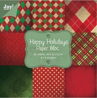 Joy! Papierblok 6011-0025 Kerst 1 Happy Holiday