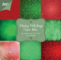 Joy! Papierblok 6011-0026 Kerst 2 Happy Holiday