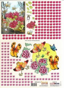 Olba 3D knipvel nr 19 bijen/vlinder