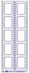 Stickervel Voorbeeldkaarten Transparant 238 Filmstrip