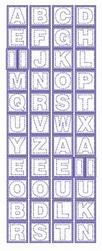 Stickervel Voorbeeldkaarten Transparant 243 Letters