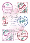 Wild Roses Studio Stamp CL353 Christmas Labels