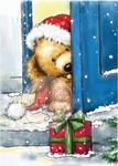 Wild Roses Studio Stamp CL275 Christmas Puppy
