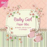 Joy! Papierblok 6011-0023 Baby girl