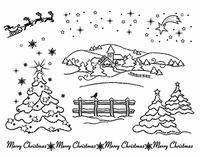 Clearstamp Viva My Paperwolrd 6899 Sneeuwlandschap