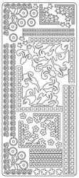 Stickervel Zwart/wit 0215 Randen en hoeken