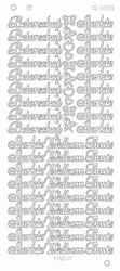 Stickervel Platinum CD3009 Beterschap, Sterkte, Welkom thuis