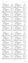 Stickervel Platinum CD3011 Hoera een zoon