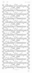 Kerststickervel Platinum CD3016 Prettige Kerstdagen en een
